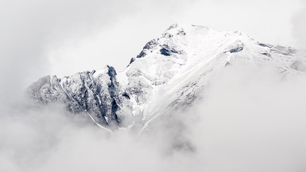 Mountain in Clouds I