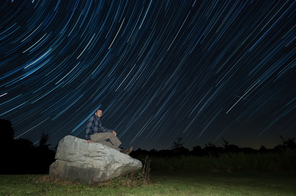 Perseid self-portrait