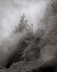 Trail through sulfur fumes
