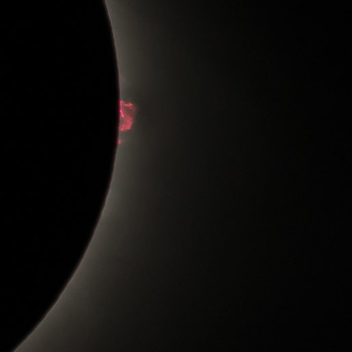 Detail of solar prominence